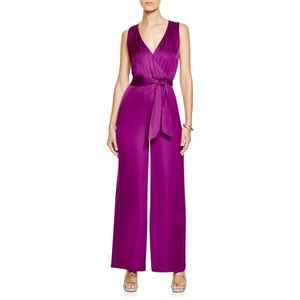 Ralph Lauren Purple Satin Jumpsuit 16W